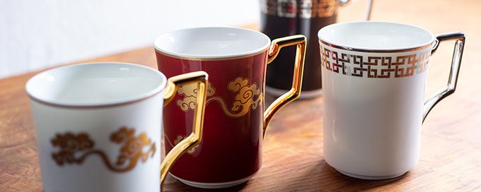 雲母唐長×ノリタケ マグカップ